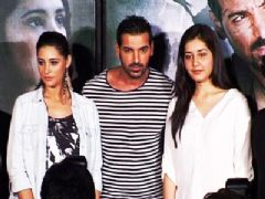 John and Nargis Fakhri at the first look launch of Madras Cafe