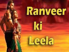 Deepika Padukone and Ranveer Singh shooting for Ram Leela