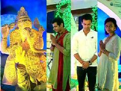 T.V Celebs promotes eco-friendly Ganpati