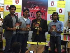 Our favourite cop ACP Arjun was seen at the launch of Ravi Subramanian's new book Bankerupt