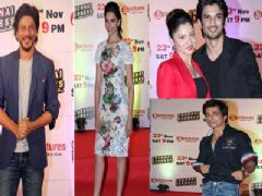Shahrukh Khan and Deepika Padukone at ZEE TVs 'Chennai Express' success bash