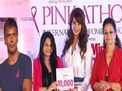 Bipasha Basu and Milind Soman at 10,000 Women Registration Of Pinkathon !