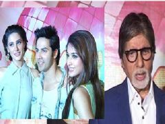 Amitabh Bachchan and the cast of Main Tera Hero on the sets of Boogie Woogie