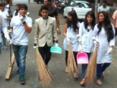 Bhavya Gandhi And Darsheel Safary Join Clean India Campaign