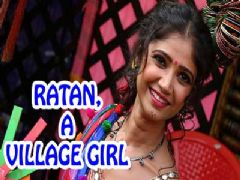 Ratan Rajput's village girl look in Mela