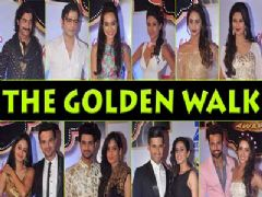 Celebs' golden walk at Gold Awards
