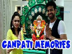 Himanshoo Malhotra and Amruta Khanvilkar thanks Bappa