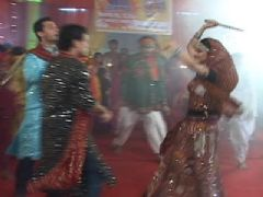 Navratri Celebration In Bhaskar Bharti