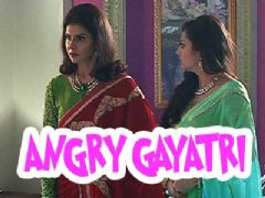 Why is Gayatri Devi angry?