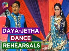Dayaben and Jethalal rehearse for SAB TV's Holi Special