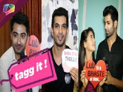 Nikita dutta, Mahi Vij, Namik Paul, Harshad Arora, Arjun Bijlani, playing Tagg it With India Forums