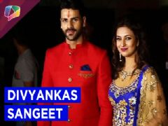 Divyanka and Vivek on their sangeet night
