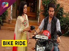 Angry Bihan takes Thapki for a bike ride