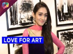 Tanya Sharma at an art exhibition