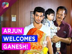 Arjun Bijlani Takes home his Ganesha!