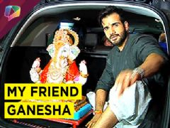 Karan Tacker spotted with his family at Ganpati Visarjan