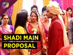 Meera proposes Abhishek in his wedding in Bade Bhaiya Ki Dulhaniyaa