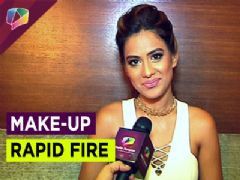 Nia Sharma plays make-up rapid fire