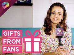 Sanaya Irani showered with gifts from her fans part-01