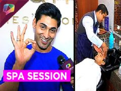 Ruslaan Mumtaz's visit to a Spa for a relaxing time