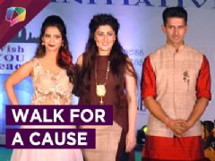 Television Celebrities walk the ramp for a Global Peace Initiative's cause