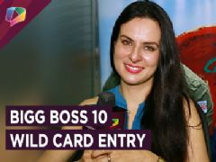 Elena Kazan all pumped up to make an entry in the Bigg Boss house