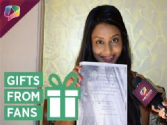 Rachana Parulkar receives gifts from her fans