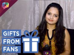Giaa Manek Receives gift from fan