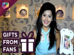 Kanchi Singh Receives Gift From Fans