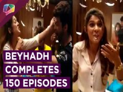 Cake Cutting on the sets of Beyhadh | 150 Episode Completion | India Forums