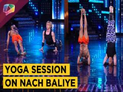 Nach Baliye 8 Contestants Learn Yoga With Baba Ramdev | Star Plus
