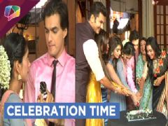 Mohsin, Shivangi and Team Yeh Rishta Kya Kehlata Hai celebrate their achievement | SPA 2017