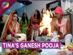 Tina Dutta Enjoys Ganpati Celebrations With Srijita