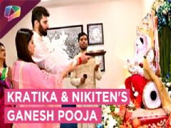 Kratika Sengar And Nikiten Dheer Perform Ganesh Pooja
