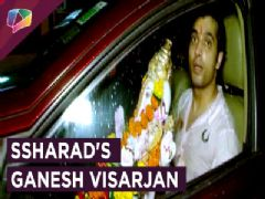 Ssharad Malhotra Does Ganesh Aarti And Visarjan