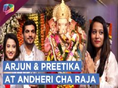Arjun Bijlani And Preetika Rao Take Lord Ganesha's Blessings | Andheri Cha Raja