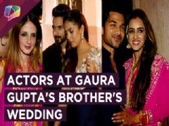 Shahid Kapoor, Mira Rajpoot And Others Make A Striking Appearance At Gaurav's Brother's Wedding
