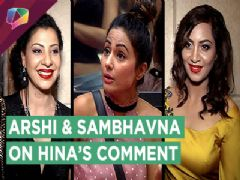 Arshi Khan Talks About Hina Khan's Comment On Her Clothes | Sambhavna Supports Arshi | Exclusive