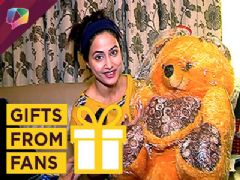 Hina Khan Receives Gifts From Her Fans