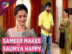 Sameer Gifts Flowers And Card To Saumya|Shakti|Colors