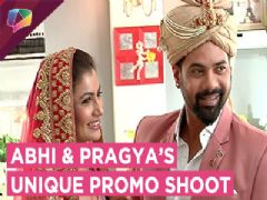 Abhi And Pragya From Kumkum Bhagya Shoot For A Unique Promo | Zee tv