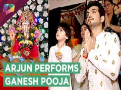 Arjun Bijlani Performs Ganesh Pooja With Family | Pearl V Puri Visits For Darshan