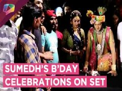 Sumedh Mudgalkar's Birthday Celebrations On The Sets Of Radha Krishn