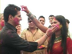 Team of Yeh Rishta Kya Kehlata Hai at the Holi Celebration with Star Plus