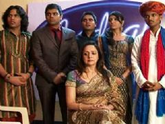 Hema Malini on the Sets of Indian Idol 5