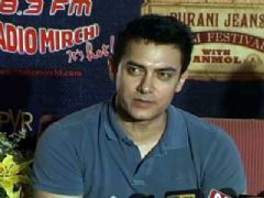 Aamir Khan and Asha Bhosle at Teesri Manzil Screening
