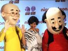 Mandira Bedi at Nickelodeon for Motu Patlu Theatrical Christmas Special