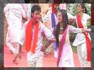 Karan and Sakshi enjoy their first holi after marriage