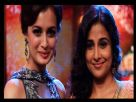 Dia Mirza and Vidya Balan on the sets of Entertainment Ke liye kuch bhi karega
