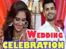 Karan Tacker and Krystle D'souza at Sarojini's wedding celebration